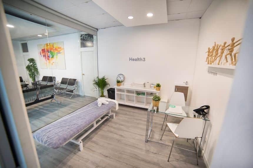 ala de tratamientos de fisioterapia en Madrid en Clínicas H3nicas H3