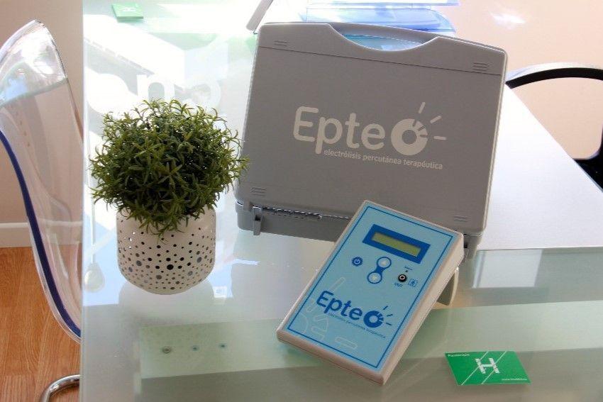 Equipacion para EPTE - Electrólisis percutánea terapéutica en Clínicas H3 Madrid