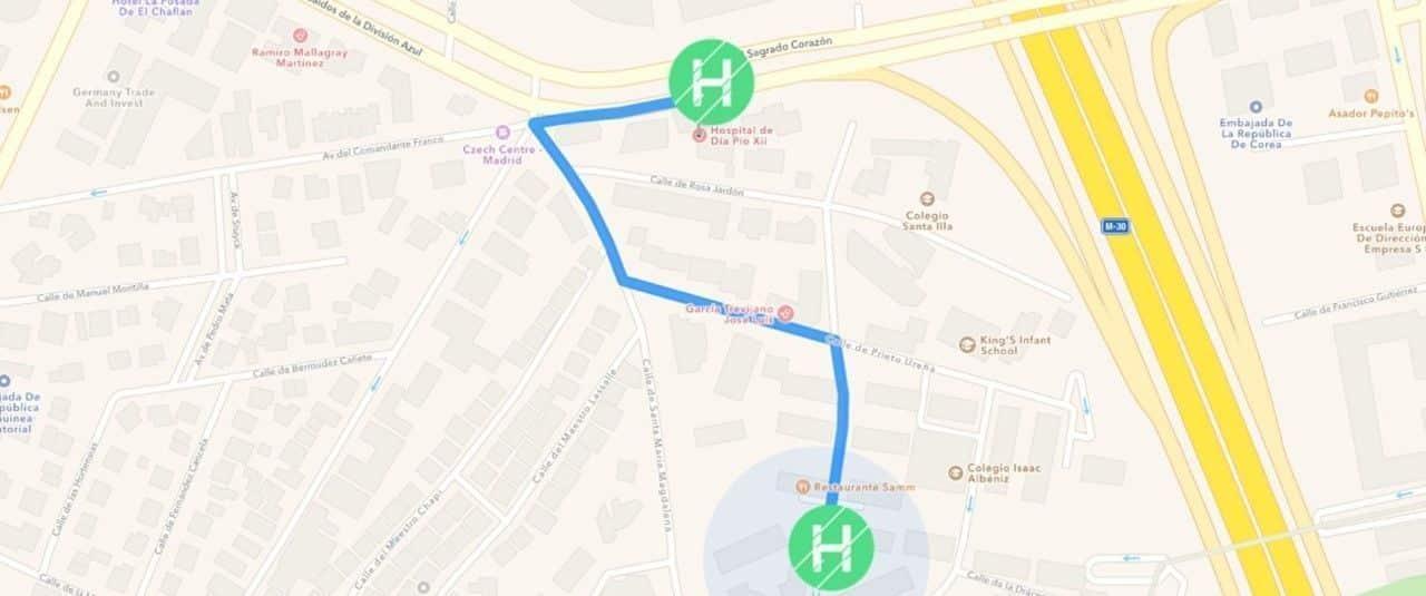 Mapa y situación de Clínicas H3 en Madrid