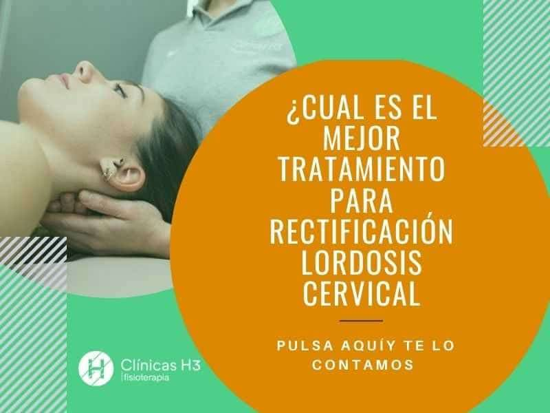 Tratamiento de la rectificacion cervical en clínicas H3 fisioterapia Madrid