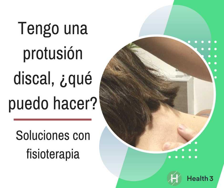 Protusion discal cervical tratamiento fisioterapia en Clínicas H3 Madrid
