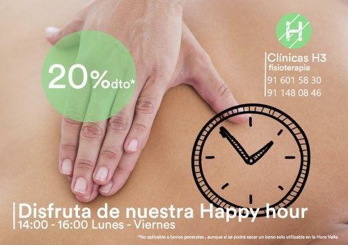 Oferta descuento fisioterapia - Clínicas h3 Madrid