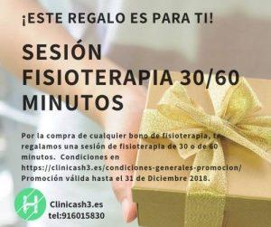 Promoción Regalo sesión de fisioterapia en Clínicas H3 Madrid