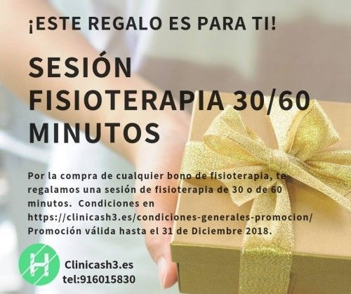 Oferta sesión de regalo con tu bono de fisioterapia - Clínicas h3 Madrid