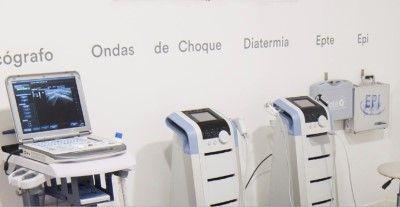 Sala con tratamiento EPTE/EPI, Ondas/Diatermia y otras aparatologías