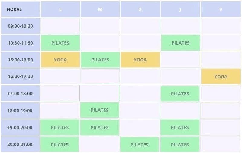 Clases de pilates precios y horarios - Clínicas H3