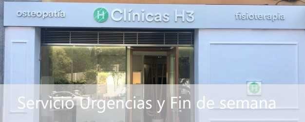 Fisioterapia abierto sabados y domingos, urgencias y finde semana en Madrid
