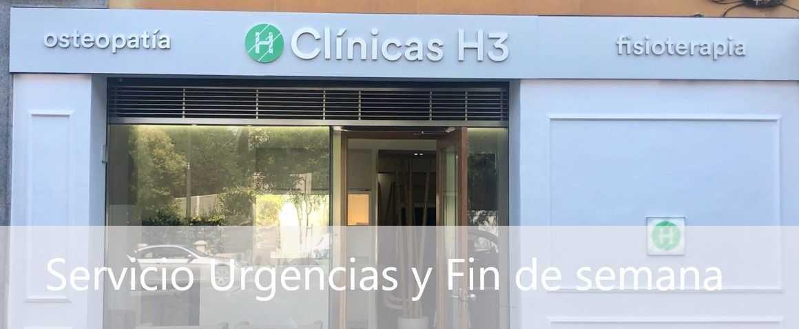 Fisioterapia urgencias en Madrid y fin de semana