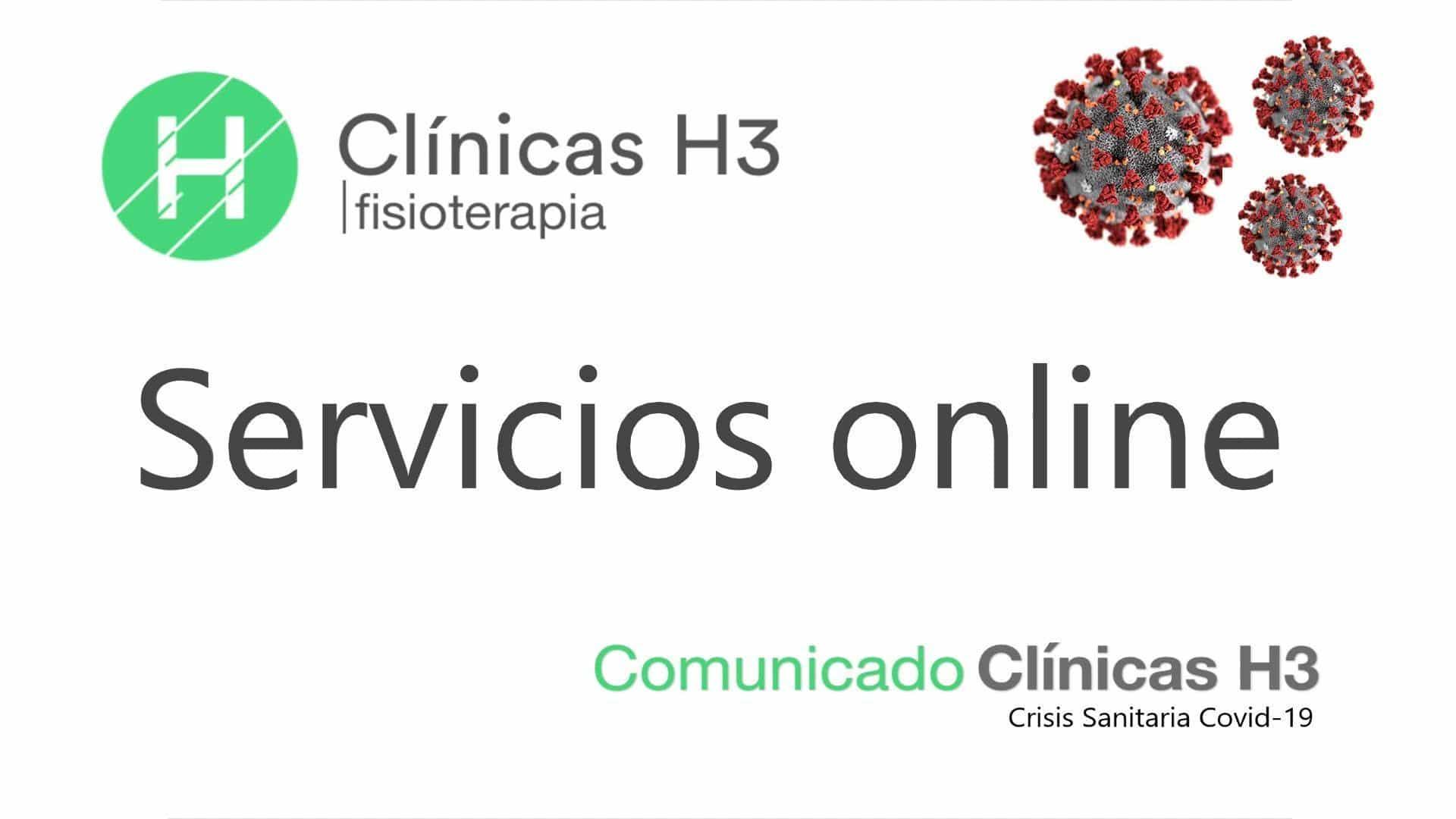 Servicios de fisioterapia en Madrid, cosulta online, crisis coronavirus