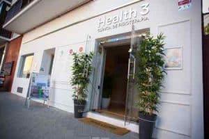 Fachada Clínicas H3 fisioterapia antigua Health 3 en Madrid
