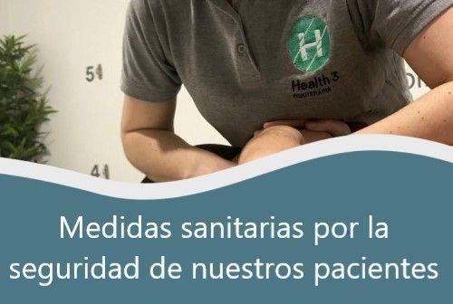 Medidas sanitarias en clínicas de fisioterapia - Clínicas H3