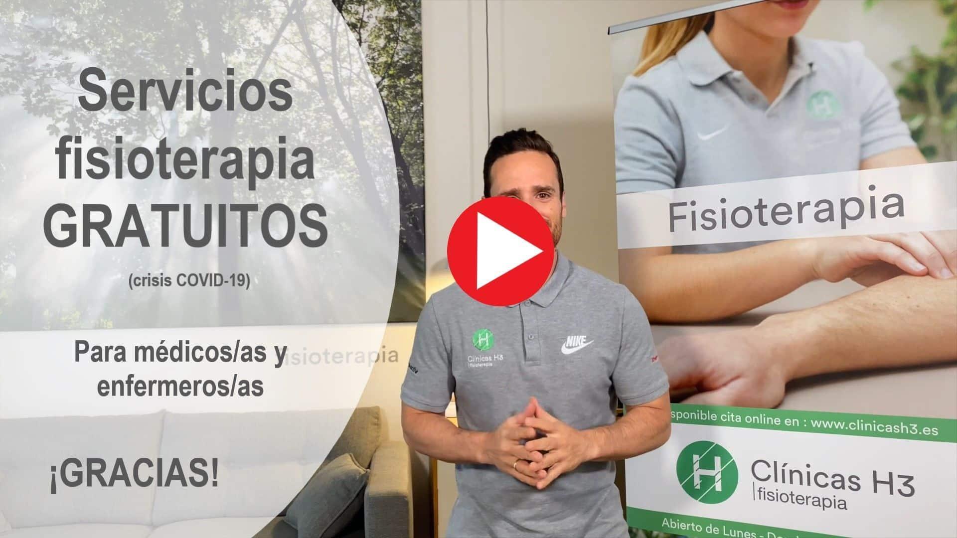 Servicios gratuitos de fisioterapia a medicos y enfermeros - crisis covid19