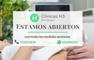 Apertura clínicas h3 fisioterapia con medidas de seguridad madrid