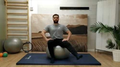 Ejercicio circulos a una pierna fitball pilates en casa