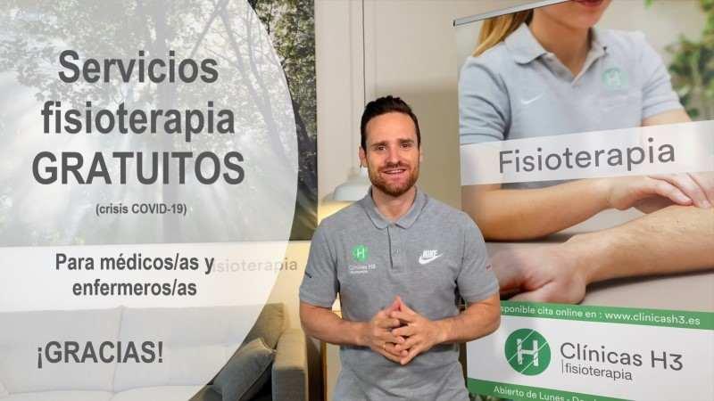 Clínicas h3 fisioterapia solidaria en la crisis sanitaria en Madrid