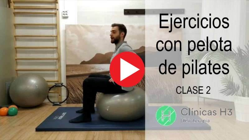 Vídeo ejercicios con pelota de pilates en casa