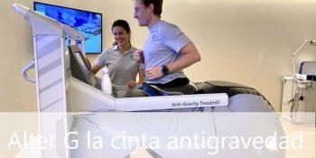 Alter G la cinta de correr antigravedad en Madrid - Clínicas H3