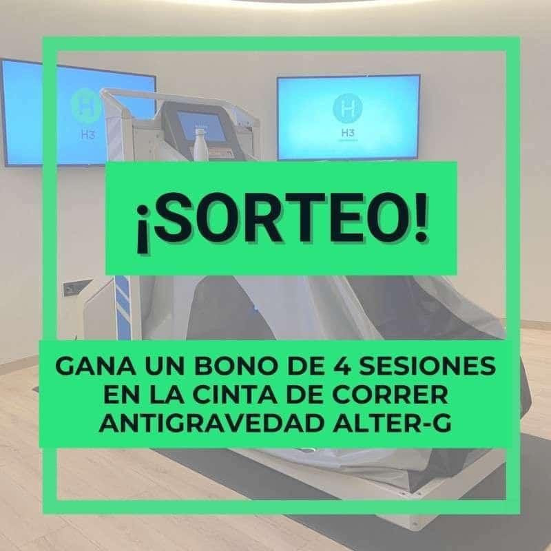 Sorteo bono Alter g antigravedad en clínicas H3 fisioterapia Perú