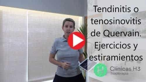 Tendinitis y tenosinovitis. Tratamiento y Ejercicios