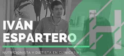 Ivan Espartero nutricionista y dietista en Clínicas H3 Madrid
