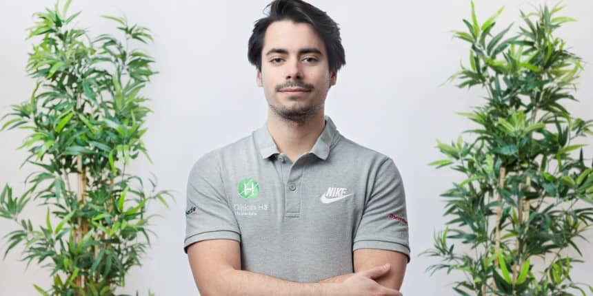 Alberto Antón fisioterapeuta en Clínicas H3 Madrid