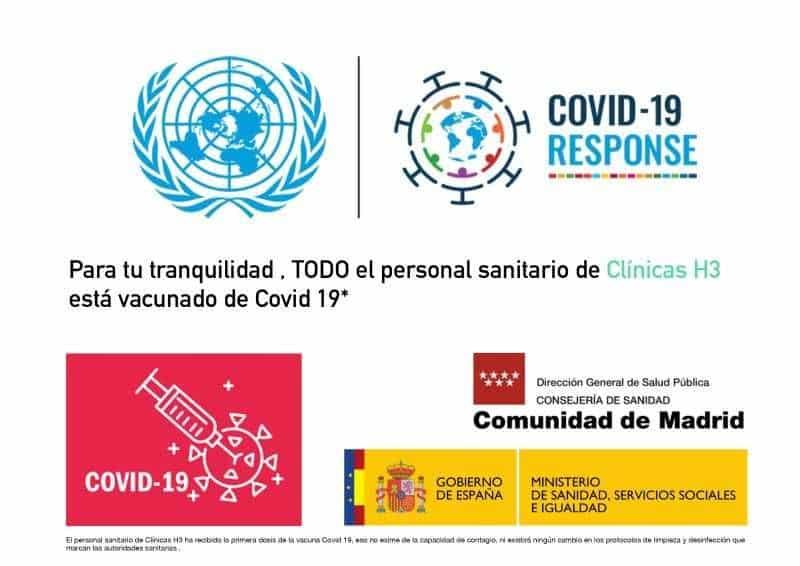 Clínica fisioterpia Madrid H3 vacuna covid personal sanitario