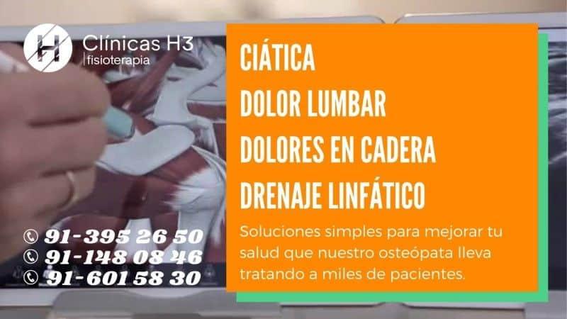 Osteopatía visceral Madrid - Clínicas H3
