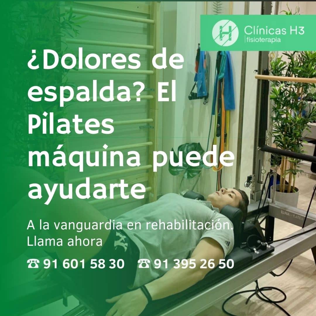 Pilates máquinas para dolores de espalda. Clínicas H3 MAdrid