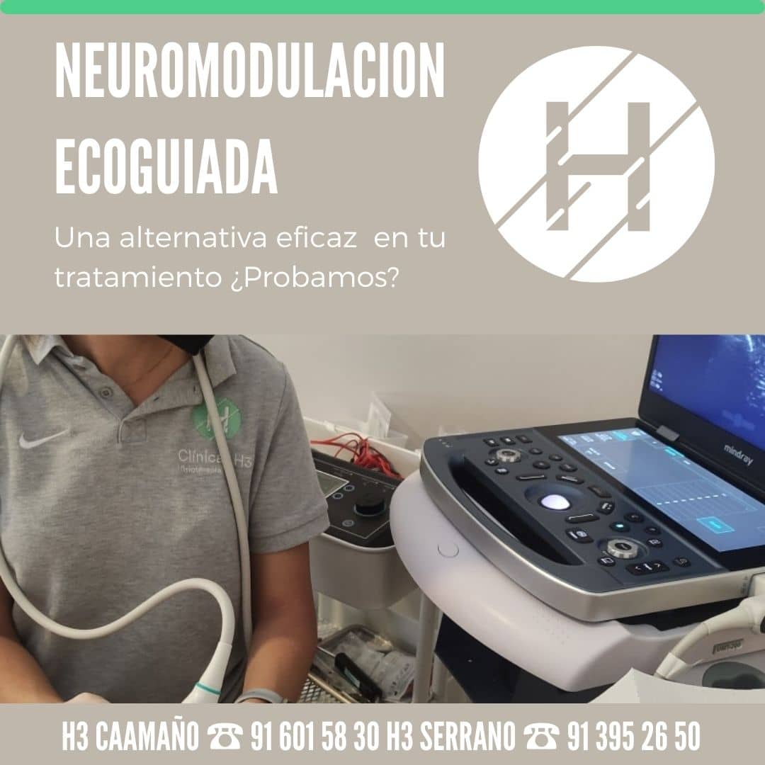 Neuromodulación ecoguiada en Madrid. Alternativa a tratamientos en fisioterapia. Clinicas H3