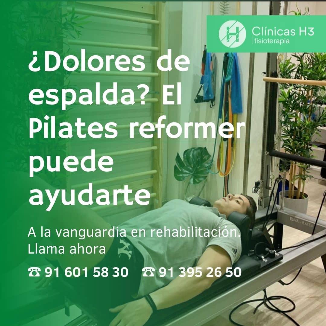 Pilates máquna Madrid centro. Pilates reformer Madrid - clínicas H3