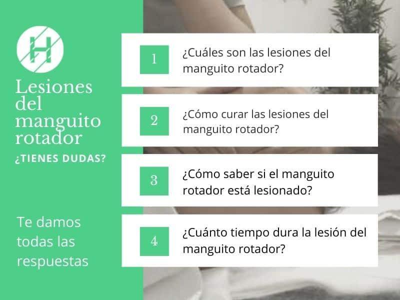 Principales lesiones del manguito rotador - Clínicas H3 fisioterapia Madrid