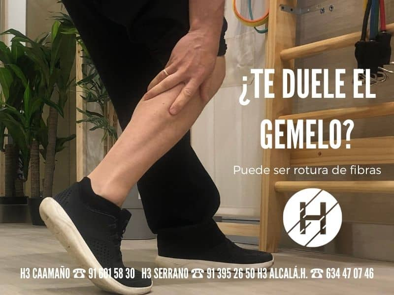 fisioterapia rotura fibrilar gemelo - Clínicas H3 Madrid